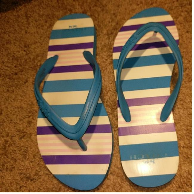 Item - Blue Pink White & Purple Stripes Clementine Sandals Size US 9 Narrow (Aa, N)