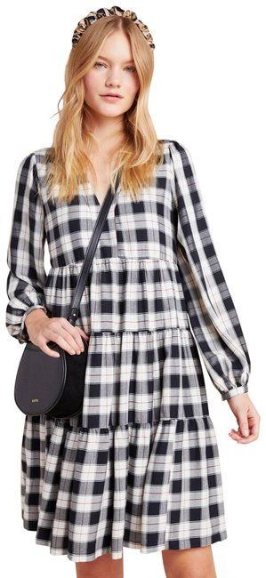 Preload https://img-static.tradesy.com/item/27669901/anthropologie-black-amber-plaid-tiered-tunic-maeve-mid-length-short-casual-dress-size-6-s-0-1-650-650.jpg