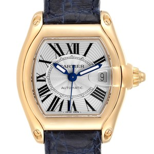 Cartier Cartier Roadster Yellow Gold Blue Strap Large Mens Watch W62005V2
