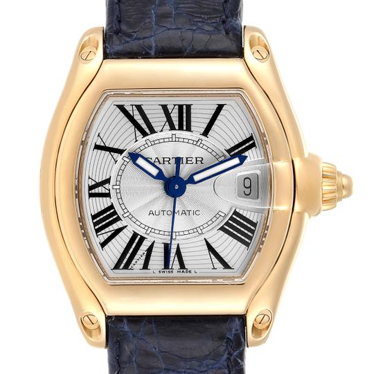 Preload https://img-static.tradesy.com/item/27670027/cartier-silver-roadster-yellow-gold-blue-strap-large-mens-w62005v2-watch-0-0-540-540.jpg