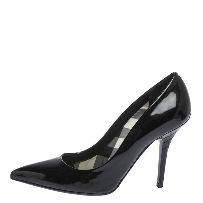 Burberry Black Patent Leather Pointed Pumps Size US 9 Regular (M, B) Burberry Black Patent Leather Pointed Pumps Size US 9 Regular (M, B) Image 1