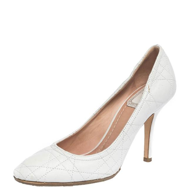 Dior White Cannage Leather 35.5 Pumps Size US 5.5 Regular (M, B) Dior White Cannage Leather 35.5 Pumps Size US 5.5 Regular (M, B) Image 1