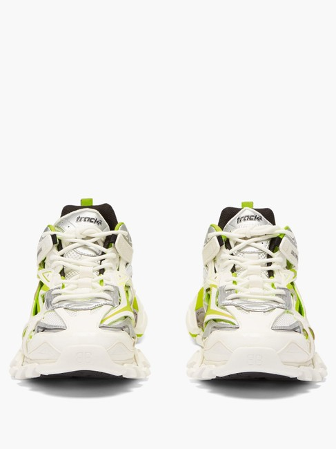 Balenciaga White/Yellow Mf Track 2 Leather and Mesh Trainers Sneakers Size EU 34 (Approx. US 4) Regular (M, B) Balenciaga White/Yellow Mf Track 2 Leather and Mesh Trainers Sneakers Size EU 34 (Approx. US 4) Regular (M, B) Image 3