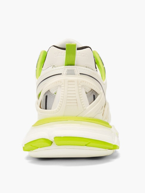 Balenciaga White/Yellow Mf Track 2 Leather and Mesh Trainers Sneakers Size EU 34 (Approx. US 4) Regular (M, B) Balenciaga White/Yellow Mf Track 2 Leather and Mesh Trainers Sneakers Size EU 34 (Approx. US 4) Regular (M, B) Image 4