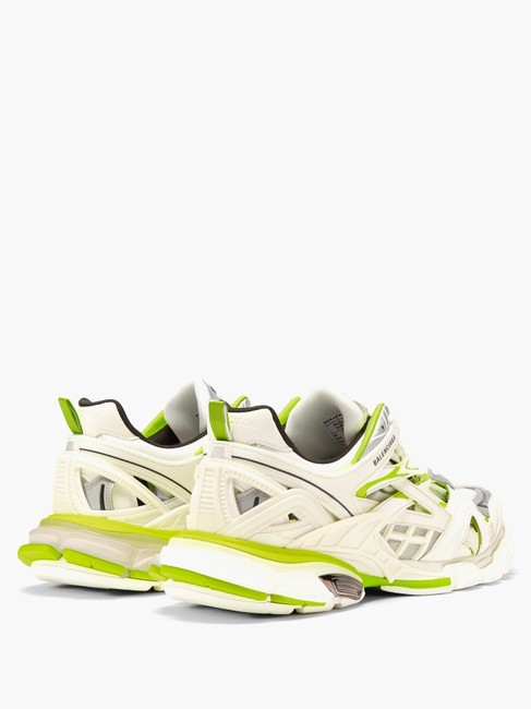 Balenciaga White/Yellow Mf Track 2 Leather and Mesh Trainers Sneakers Size EU 34 (Approx. US 4) Regular (M, B) Balenciaga White/Yellow Mf Track 2 Leather and Mesh Trainers Sneakers Size EU 34 (Approx. US 4) Regular (M, B) Image 5