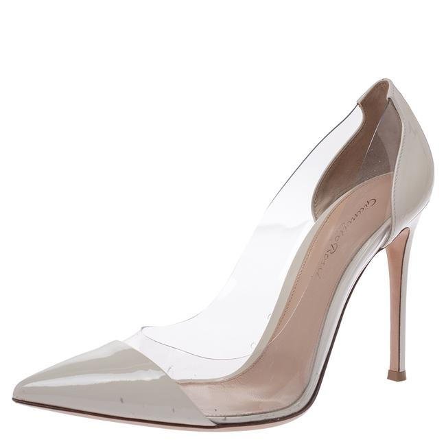 Gianvito Rossi Cream Patent Leather and Pvc Plexi Pointed 39.5 Pumps Size US 9 Regular (M, B) Gianvito Rossi Cream Patent Leather and Pvc Plexi Pointed 39.5 Pumps Size US 9 Regular (M, B) Image 1