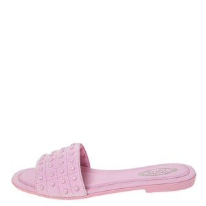 Tod's Suede Pink Flats