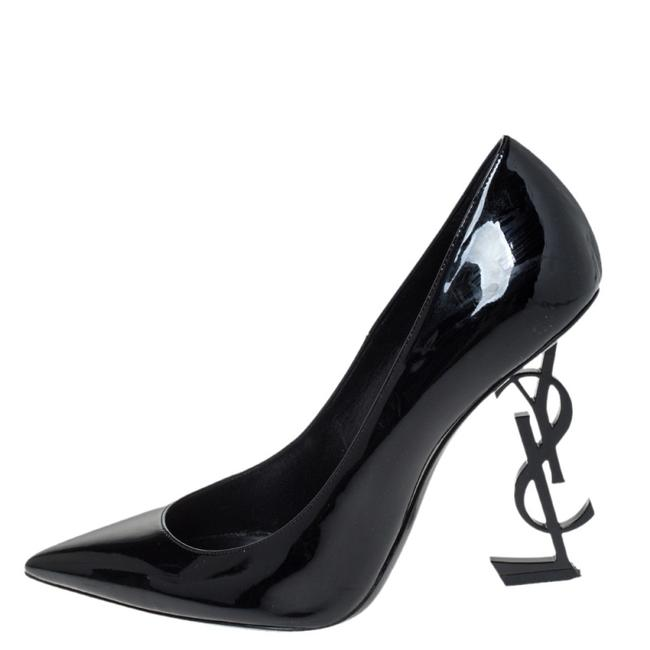 Saint Laurent Black Paris Patent Leather Opyum Pointed Pumps Size US 10 Regular (M, B) Saint Laurent Black Paris Patent Leather Opyum Pointed Pumps Size US 10 Regular (M, B) Image 1