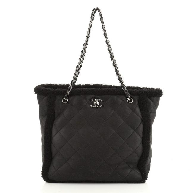 Chanel Shopping Coco Neige Quilted Lambskin and Shearling Large Tote Chanel Shopping Coco Neige Quilted Lambskin and Shearling Large Tote Image 1