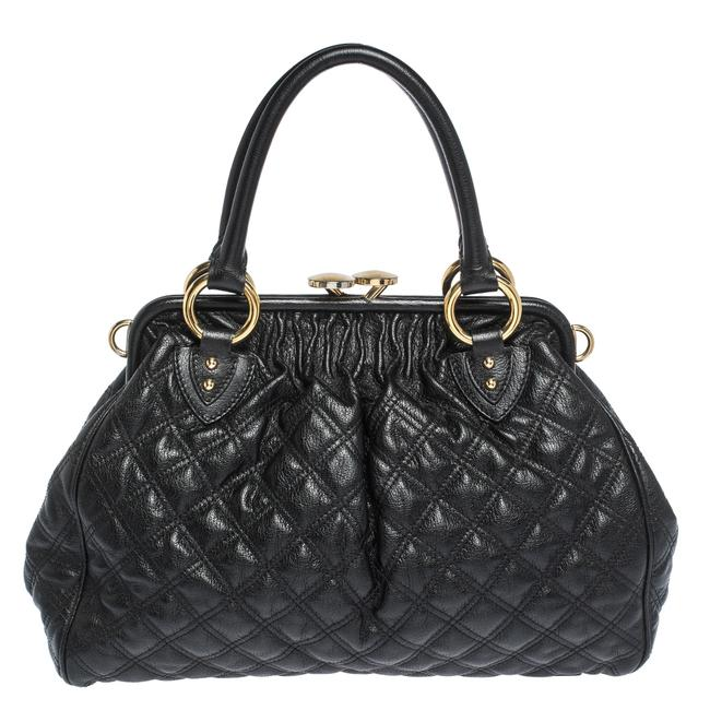 Marc Jacobs Quilted Black Leather Satchel Marc Jacobs Quilted Black Leather Satchel Image 1