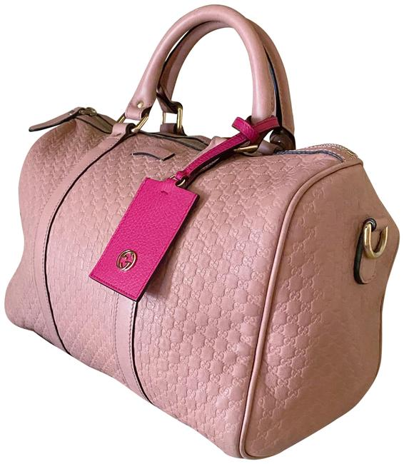 Gucci Bag Boston Guccissima Top Handle Baby Pink Leather and Gg Leather Satchel Gucci Bag Boston Guccissima Top Handle Baby Pink Leather and Gg Leather Satchel Image 1