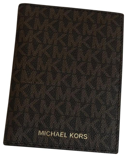 Michael Kors Brown Passport Wallet Michael Kors Brown Passport Wallet Image 1
