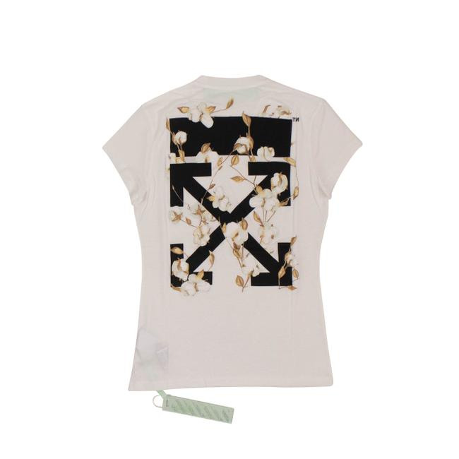 Preload https://img-static.tradesy.com/item/27670410/off-whitetm-white-floral-logo-fitted-t-shirt-tee-shirt-size-2-xs-0-0-650-650.jpg