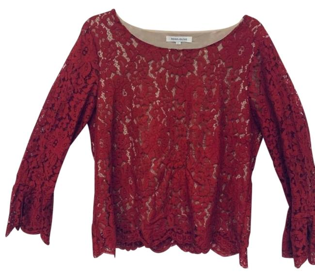 Preload https://img-static.tradesy.com/item/27670468/rose-and-olive-red-lace-blouse-size-12-l-0-1-650-650.jpg
