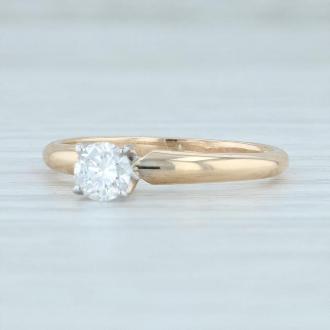 Yellow Gold 0.35ct Diamond 14k Round Brilliant Solitaire Igi Engagement Ring Yellow Gold 0.35ct Diamond 14k Round Brilliant Solitaire Igi Engagement Ring Image 1