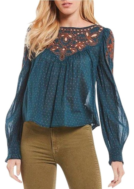 Preload https://img-static.tradesy.com/item/27670501/blue-people-everything-i-know-peasant-blouse-size-2-xs-0-1-650-650.jpg