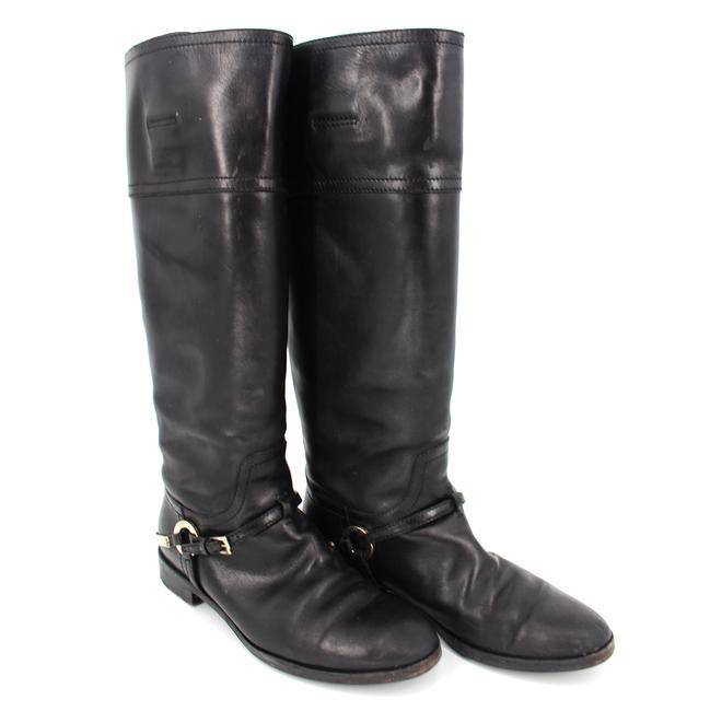 Dior Black Etrier Leather Buckle High Riding Boots/Booties Size EU 38 (Approx. US 8) Regular (M, B) Dior Black Etrier Leather Buckle High Riding Boots/Booties Size EU 38 (Approx. US 8) Regular (M, B) Image 1