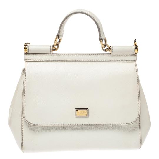Preload https://img-static.tradesy.com/item/27670525/dolce-and-gabbana-top-handle-bag-medium-miss-sicily-white-leather-clutch-0-0-540-540.jpg