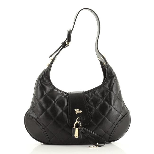 Burberry Hobo Brook Quilted Small Black Leather Wristlet Burberry Hobo Brook Quilted Small Black Leather Wristlet Image 1