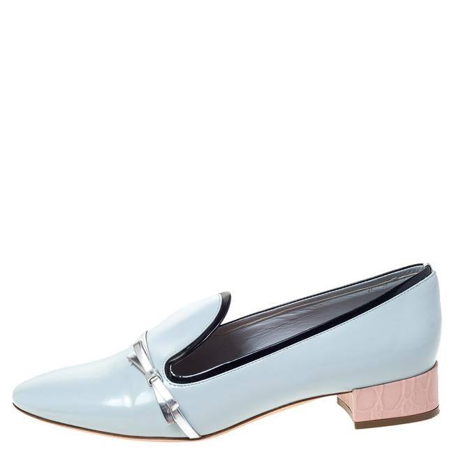 Dior Blue Leather Bow Ballet Flats Size US 5.5 Regular (M, B) Dior Blue Leather Bow Ballet Flats Size US 5.5 Regular (M, B) Image 1