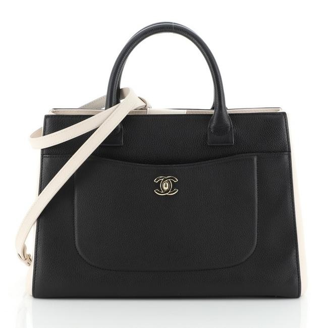 Chanel Neo Executive Grained Small Black Calfskin Leather Tote Chanel Neo Executive Grained Small Black Calfskin Leather Tote Image 1