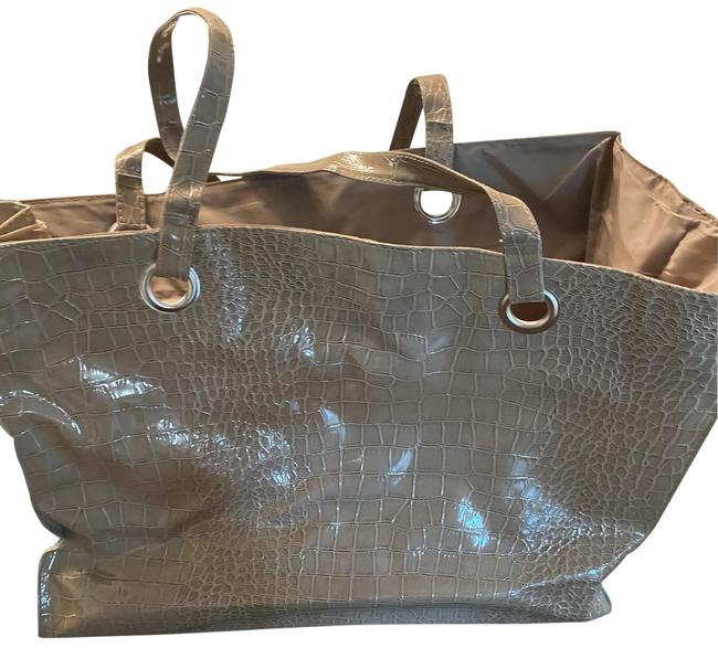 Large Taupe Tote Large Taupe Tote Image 1