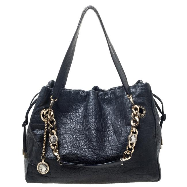 BVLGARI Monete Black Leather Tote BVLGARI Monete Black Leather Tote Image 1