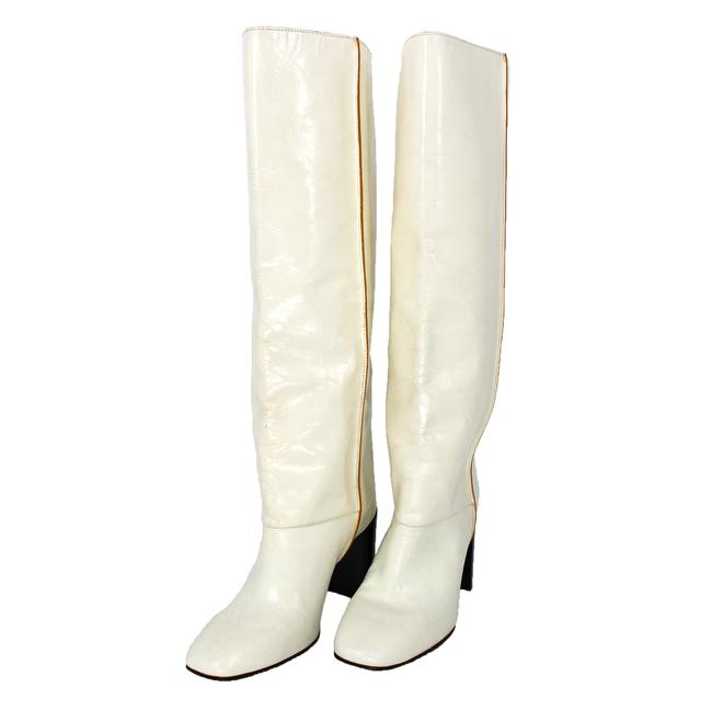 Item - White Leather Aslen Tall Boots/Booties Size EU 35 (Approx. US 5) Regular (M, B)