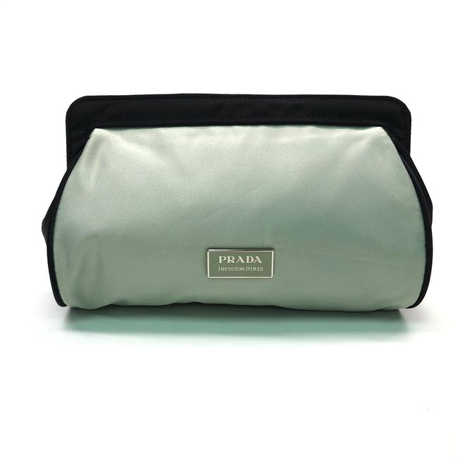 Item - Green W Womens Turquoise / Black Polyester / Travel Logo Cosmetic Bag
