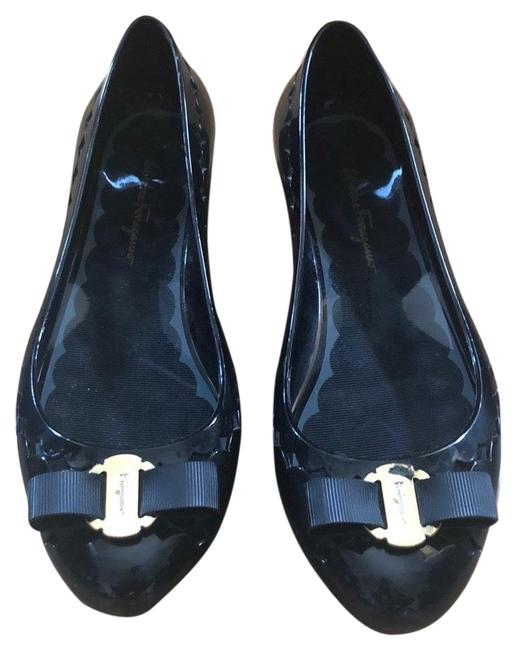 Item - Black Jelly Laser Cut Pumps Flats Size US 7 Regular (M, B)