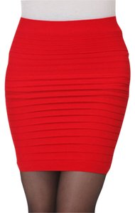Other Fitted Bodycon Mini Skirt Red