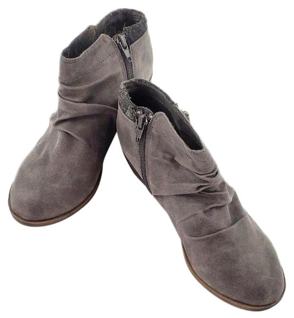 Item - Gray Trust Me Ankle Faux Suede Boots/Booties Size US 6.5 Regular (M, B)