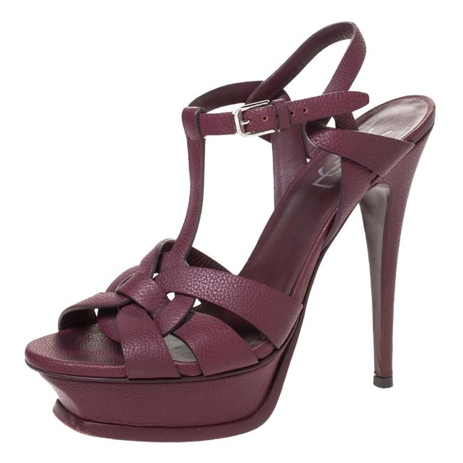 Item - Burgundy Tribute Leather Platform 38.5 Sandals Size US 8 Regular (M, B)