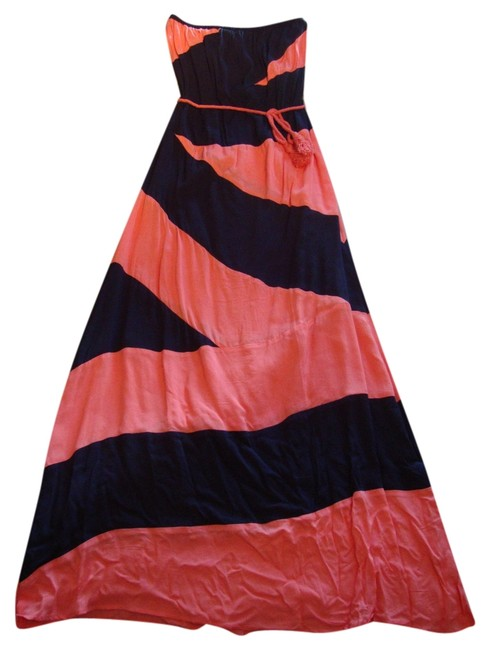 Navy/Coral Maxi Dress by West 36th