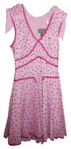 Zac Posen for Target short dress Pink with Raspberry Polka Dots on Tradesy