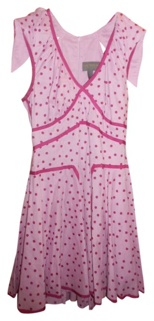 Preload https://img-static.tradesy.com/item/276717/zac-posen-for-target-pink-with-raspberry-polka-dots-above-knee-short-casual-dress-size-8-m-0-0-650-650.jpg