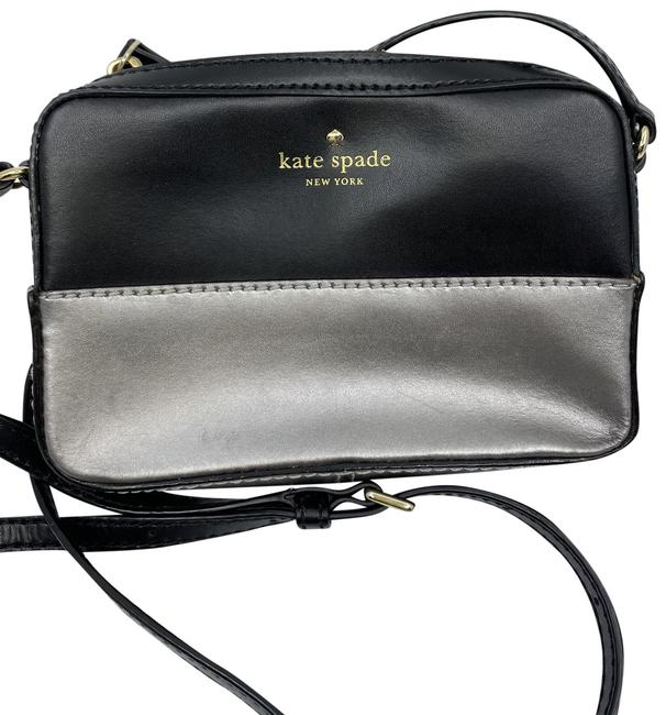 Item - Small Cross-body Black/Silver Leather Shoulder Bag