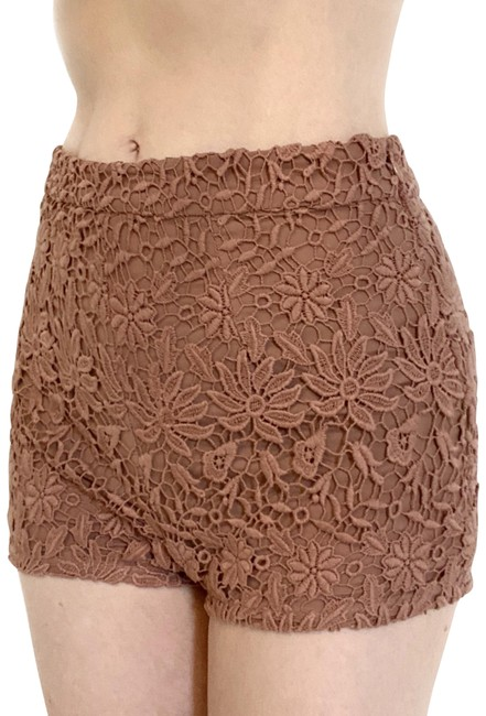 Item - Mauve/ Dusty Pink High Waisted Crochet Lace Tap Shorts Size 2 (XS, 26)