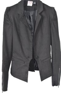 English Laundry Black Black Blazer Blazer Zipper Jacket