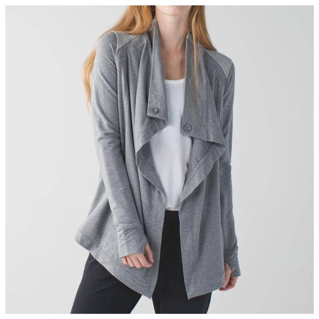 Lululemon Gray Coast Wrap In Heathered Mod Medium Activewear Outerwear Size 4 (S) Lululemon Gray Coast Wrap In Heathered Mod Medium Activewear Outerwear Size 4 (S) Image 1