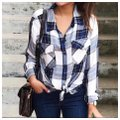 Sanctuary Button Down Shirt Blue