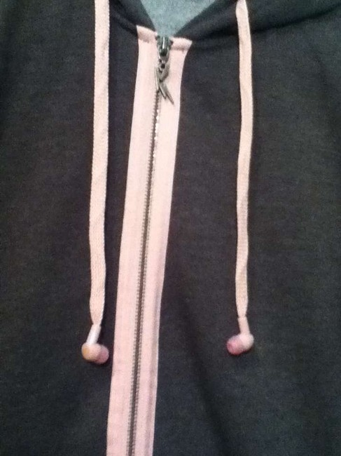 Rusty Head Phones Music Light Weight Skater Grey and Pink Jacket