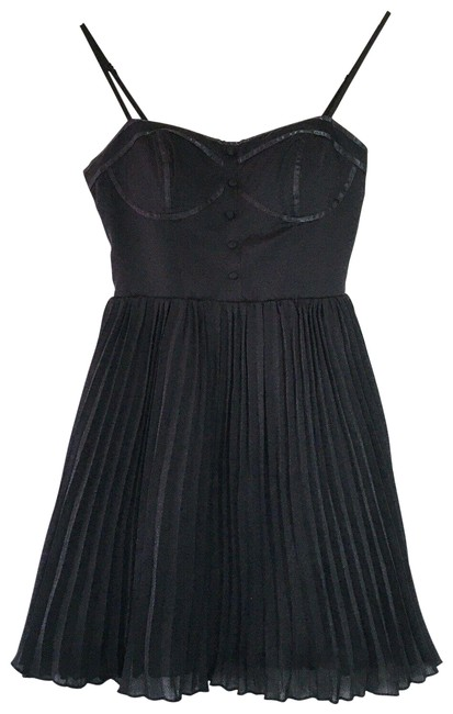 Preload https://img-static.tradesy.com/item/27672585/american-eagle-outfitters-black-pleated-button-sweetheart-bustier-short-night-out-dress-size-2-xs-0-1-650-650.jpg