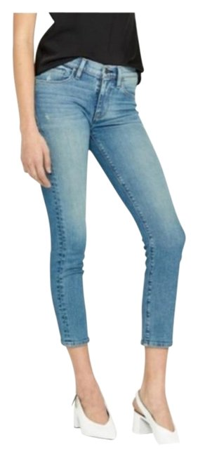 Item - Blue Light Wash Tally Midrise Skinny Crop Capri/Cropped Jeans Size 25 (2, XS)