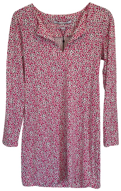 Item - Pink and White Reina Short Work/Office Dress Size 8 (M)