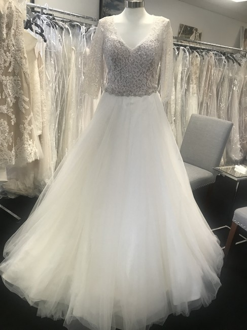 Item - Ivory/ Nude Tulle/ Lace Rebecca Ingram Scarlett Feminine Wedding Dress Size 8 (M)