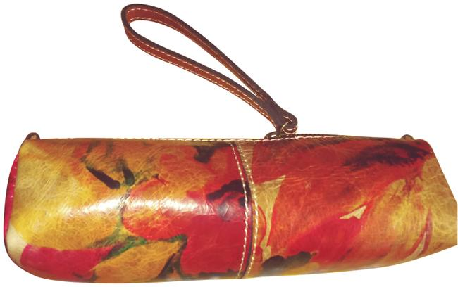 Item - Roll Multicolor Leather Wristlet