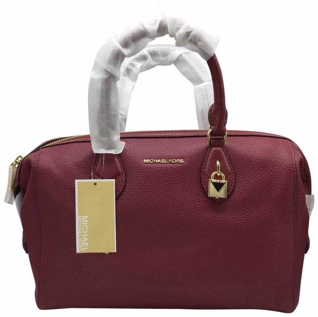 Item - New Grayson Mulberry (Red) and Gold Leather Satchel