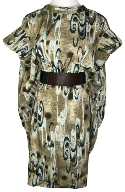 Item - Multi Color Wing Mid-length Work/Office Dress Size 0 (XS)