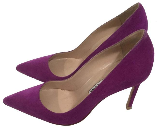 Item - Magenta Suede Pumps Size EU 37 (Approx. US 7) Regular (M, B)